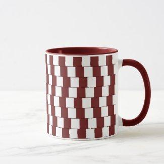 Confusing lines Bordeaux Mug