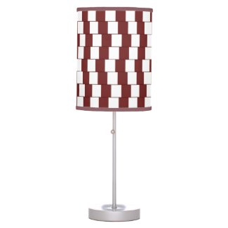 Confusing lines Bordeaux Table Lamp