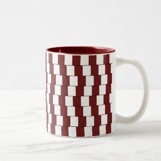 Confusing lines Bordeaux Two-Tone Coffee Mug