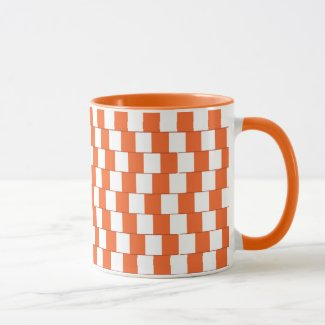Confusing lines Orange Mug