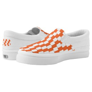 Confusing lines Orange Slip-On Sneakers
