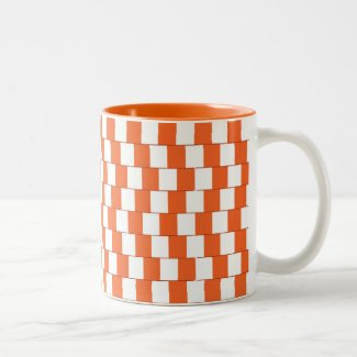 Confusing lines Orange Two-Tone Coffee Mug