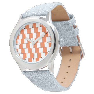 Confusing lines Orange Wrist Watch