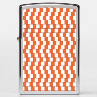 Confusing lines Orange Zippo Lighter