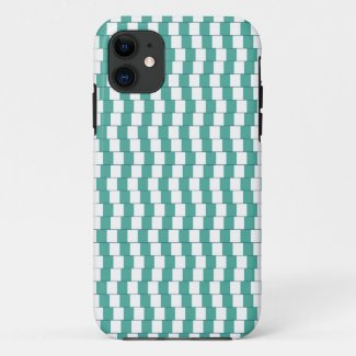 Confusing lines turquoise iPhone 11 case