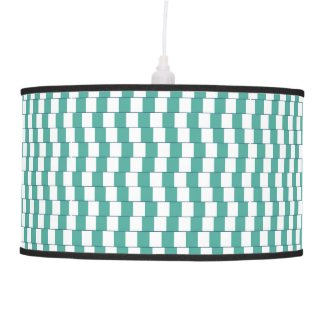 Confusing lines turquoise ceiling lamp