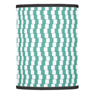 Confusing lines turquoise lamp shade