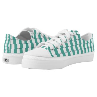 Confusing lines turquoise Low-Top sneakers