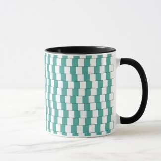 Confusing lines turquoise mug