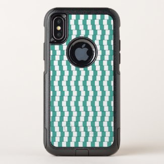 Confusing lines turquoise OtterBox commuter iPhone x case