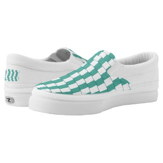 Confusing lines turquoise Slip-On sneakers