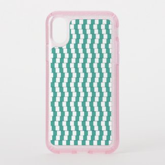 Confusing lines turquoise speck iPhone x case