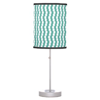 Confusing lines turquoise table lamp