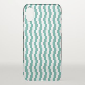 Confusing lines turquoise iPhone x case