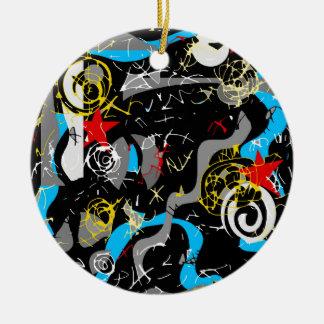 Confusion 2 ceramic ornament