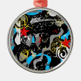 Confusion 2 metal ornament