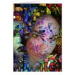 Confusión artística de la niebla del cerebro tarjeta pequeña