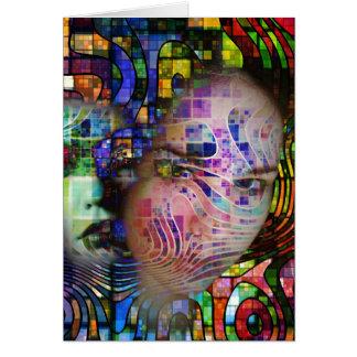 Confusión artística de la niebla del cerebro felicitación