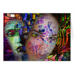 Confusión artística de la niebla del cerebro tarjeta