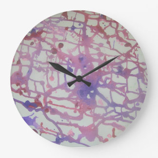 """Confusion"" clock pink, pink and purple"
