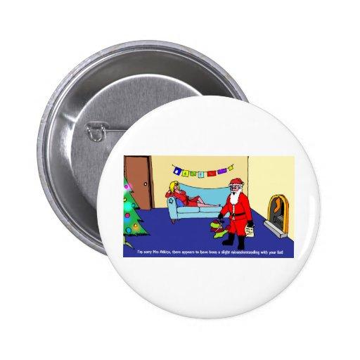 Confusión del navidad pin redondo 5 cm