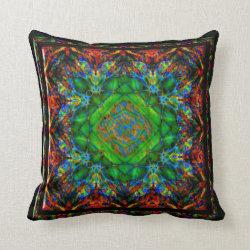 Confusion Kaleidoscope Design Throw Pillow