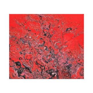 Confusión roja lona envuelta para galerias
