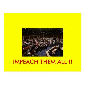 cong, IMPEACH THEM ALL !! Postcard