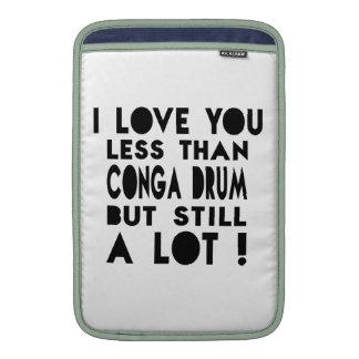 Conga drum Designs MacBook Sleeve