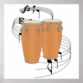 Conga Drums Print