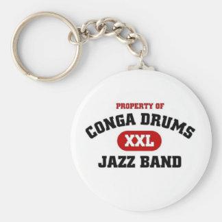 Conga Drums xxl Jazz band Basic Round Button Keychain