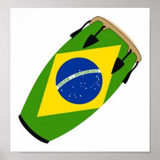 Conga Flag Brazil Poster