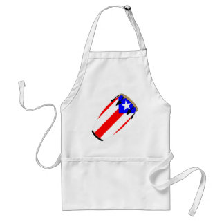 Conga Flag Puerto Rico Adult Apron