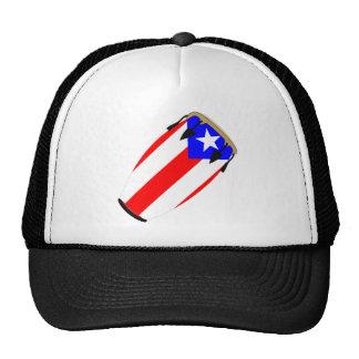 Conga Flag Puerto Rico Mesh Hats