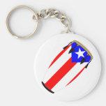 Conga Flag Puerto Rico Key Chain