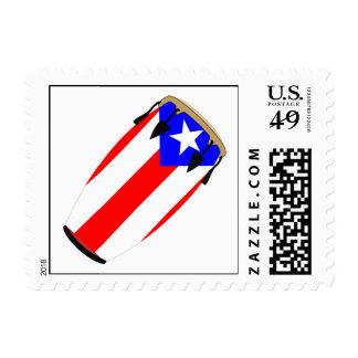 Conga Flag Puerto Rico Postage Stamp