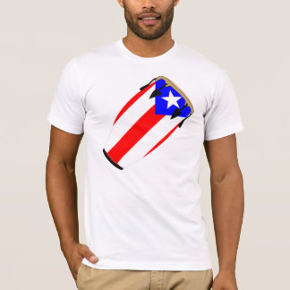 Conga Flag Puerto Rico T-Shirt