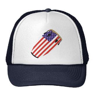 Conga Flag USA Trucker Hats