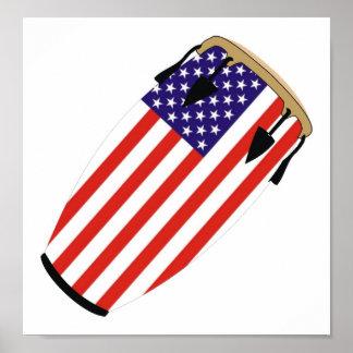 Conga Flag USA Poster