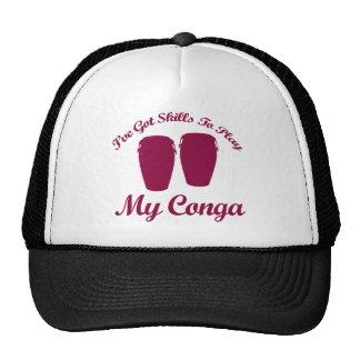 conga musical designs hat