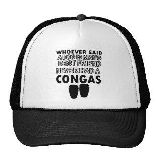 conga musical instrument trucker hat