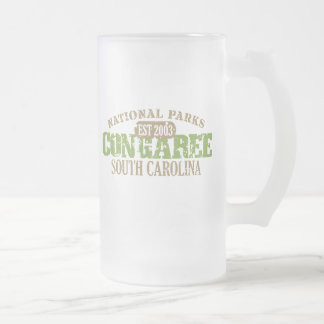 Congaree National Park Frosted Glass Beer Mug