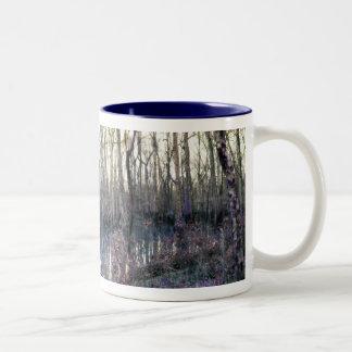 Congaree trees Two-Tone coffee mug