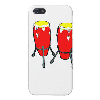Congas amarillos rojos en imagen del gráfico de lo iPhone 5 carcasas