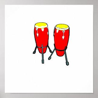 Congas amarillos rojos en imagen del gráfico de lo posters