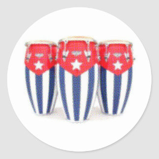 Congas cubanos pegatinas redondas