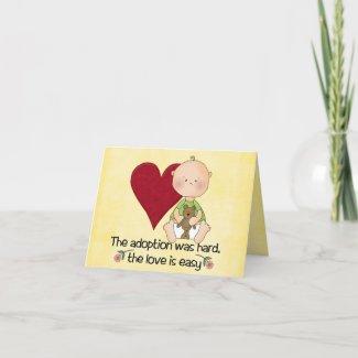 congatulations adoption card card