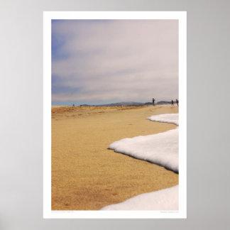 Congelación en la playa póster