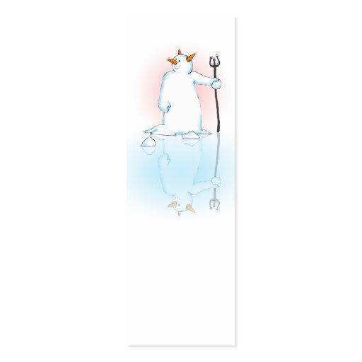 Congelado sobre el regalo o la nota tarjeta personal