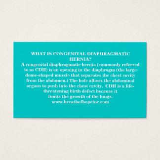 Congenital Diaphragmatic Hernia Awareness Cards